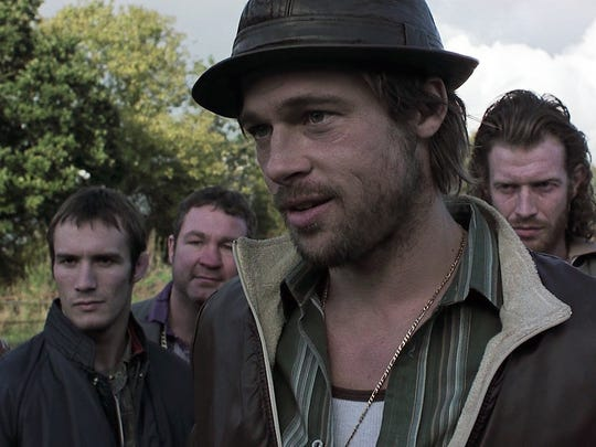 """Brad Pitt's Irish-gypsy dialect is barely understandable in """"Snatch."""""""