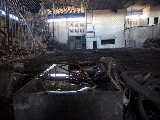 These are the remains of the former gym in a building