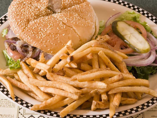 Burgers and fries are among the dishes at the Black Bear Diner.