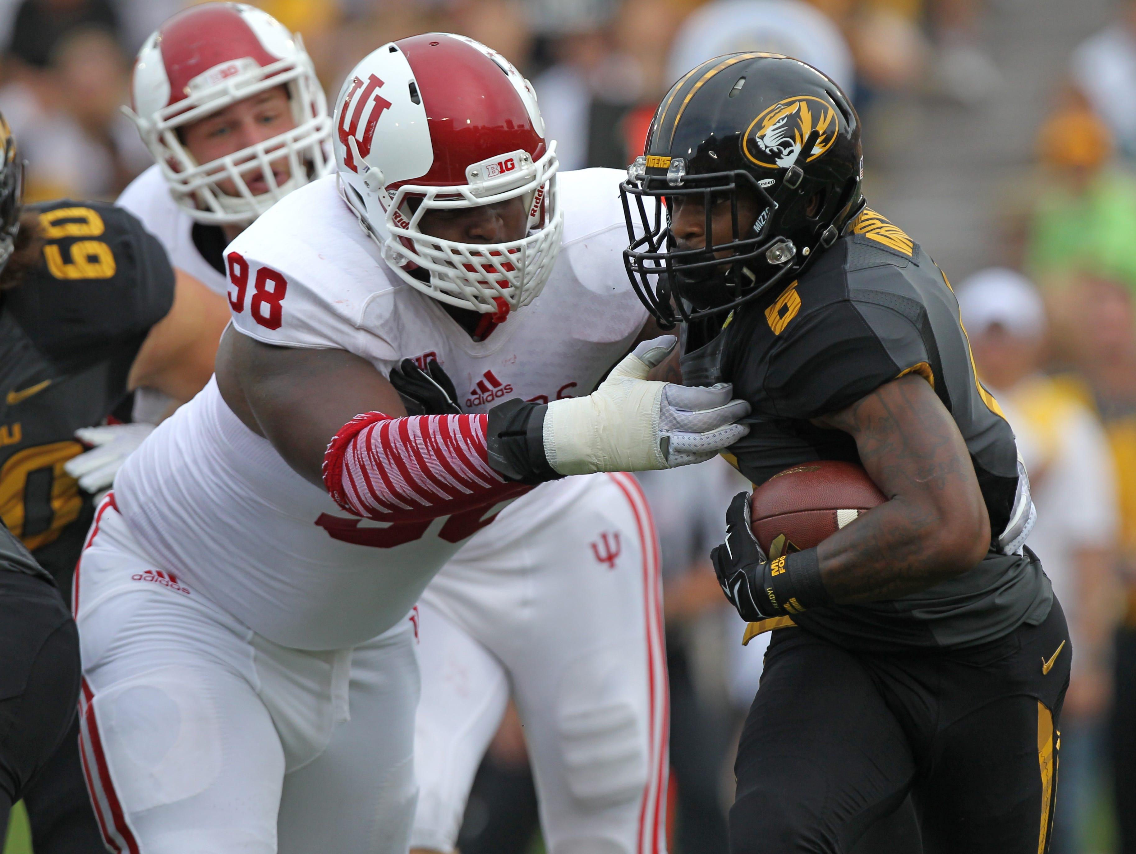IU defensive lineman Darius Latham