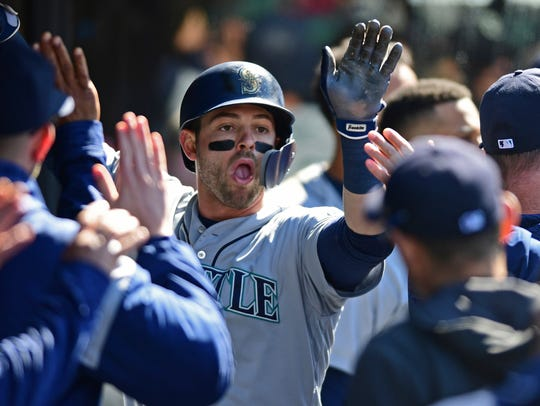 Mitch Haniger has 10 home runs on the season, tied