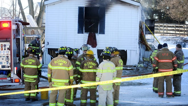 A 3-year-old boy was killed in a Tuesday morning blaze at his home in the Fountain Place Mobile Home Park, 3068 Marion-Waldo Road, south of Marion. Three others were injured.