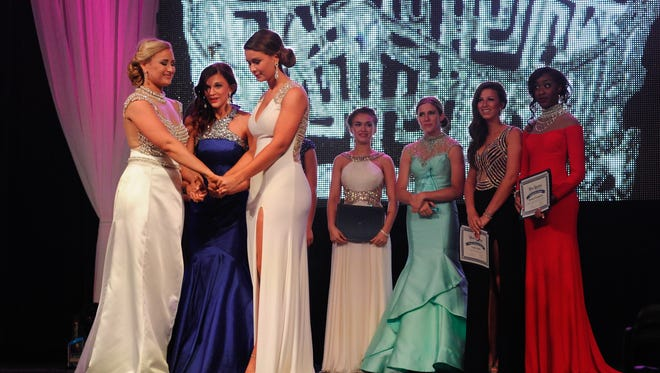Final three at the Miss Delaware Competition at Dover Downs Hotel & Casino in Dover. June 13, 2015.