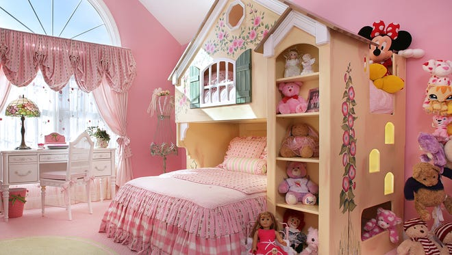 A storybook room designed by Sheila Rich.