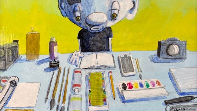 """The Tools"" (16x20 acrylic on canvas) by Dan Gerdeman"