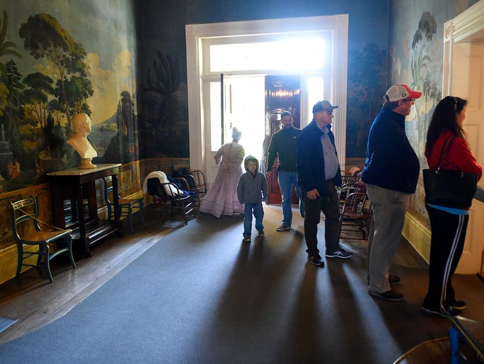 Visitors to the Hermitage, home of Andrew Jackson are