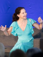 American actress Ashley Judd speaks at the ANA Inspiring