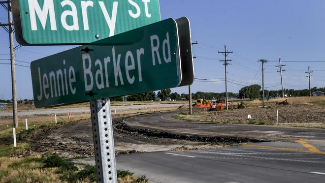 The Jennie Barker Road construction project is underway. The road is closed south from Mary Street to Schulman Avenue.