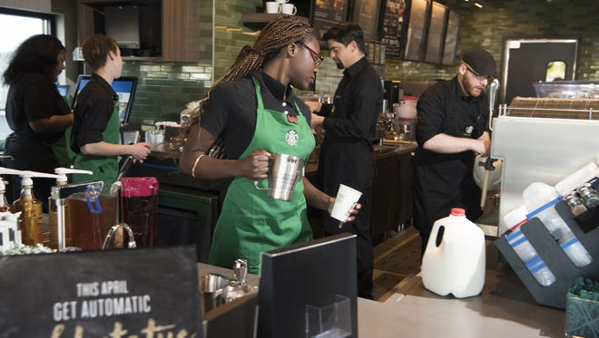 About 8,000 Starbucks around the country are participating in the training after two African-American men were handcuffed at a Philadelphia location after the manager called police as the pair waited for a friend.