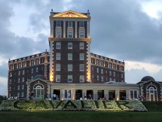 Twilight At The Cavalier Hotel In Virginia Beach