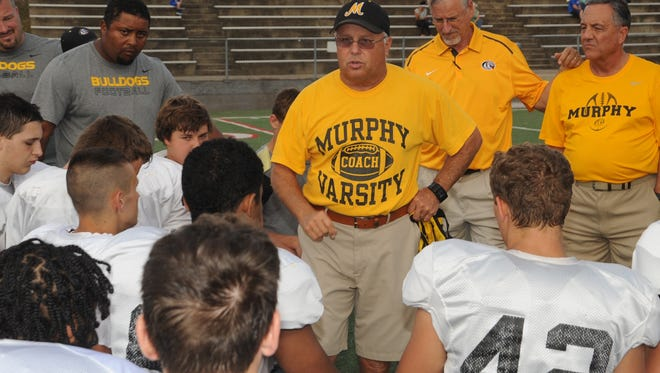 Murphy football coach David Gentry.