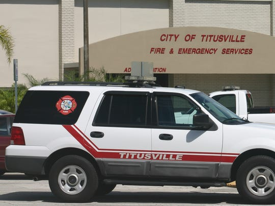 City of Titusville Fire & Emergency Services administration building in downtown Titusville. (Scott Gunnerson, FLORIDA TODAY)