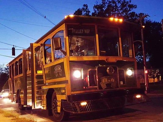 Frankfort avenue trolley hop night time