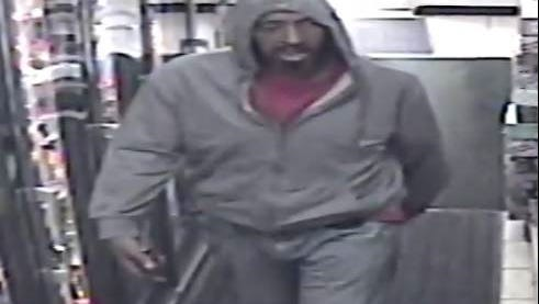 The Montclair Police Department is looking for the suspect, pictured, in the robbery of the Grove Convenience Store on Wednesday, April 19.