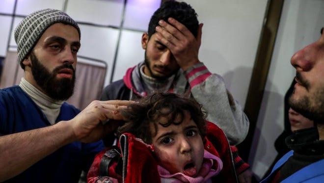 In Douma, Syria, on Feb. 20, 2018.