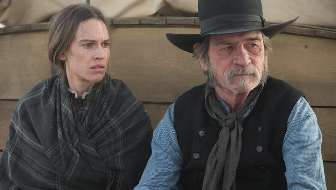 """Hilary Swank and Tommy Lee Jones star in """"The Homesman,"""" Jones's second directorial effort, after 2005's """"The Three Burials of Melquiades Estrada."""""""