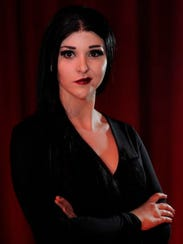Jordan White stars as Morticia Addams