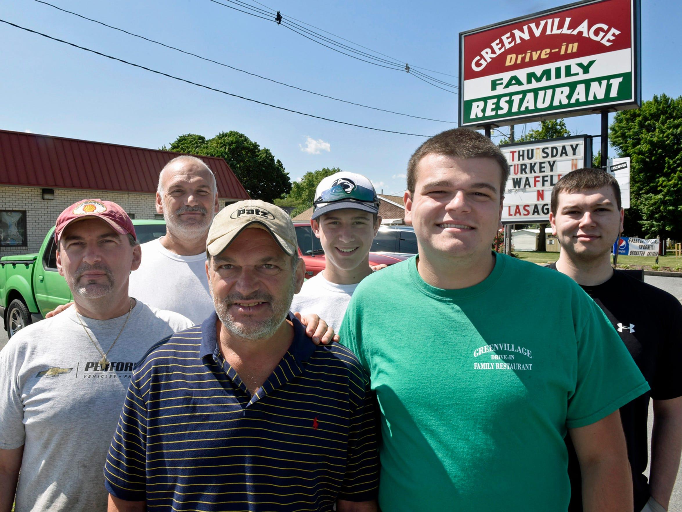The Hronis' gather at Greenvillage Restuarant on Thursday