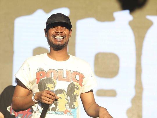 Danny Brown performs at the Lost Lake Festival in Phoenix,