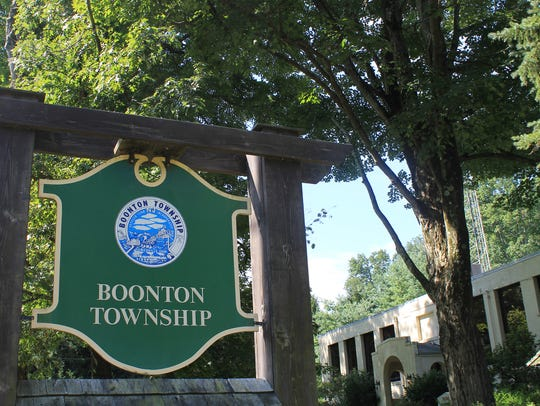 Boonton Township sign.