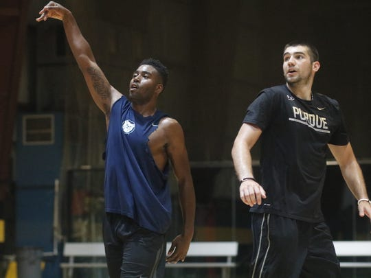 Kelan Martin and Dakota Mathias worked out together this summer in preparation for the 2017-18 season.