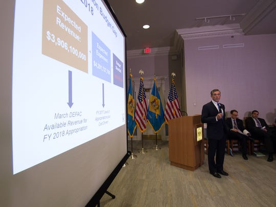 Gov. John Carney unveils his proposed budget at the