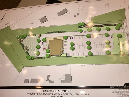 Blueprints for a shul in Jackson.
