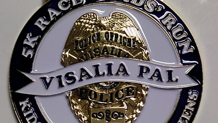 A medal will be given to every racer that completes the Visalia PAL 5K race Saturday, Jan. 21.