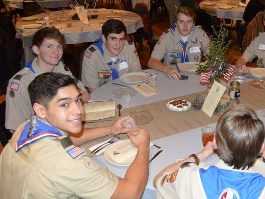 Troop 74 Eagle Scouts Andres Raffety, Richard Kuehn,