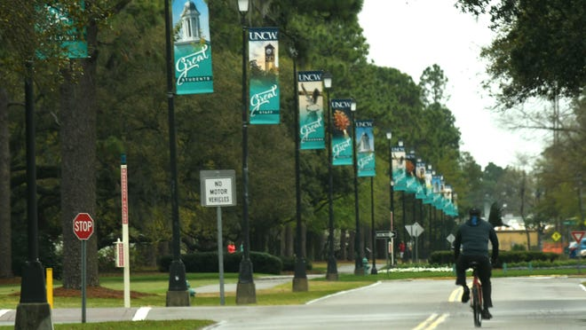 UNCW in Wilmington, N.C. is almost empty on Monday March 23, 2020, during the coronavirus outbreak.