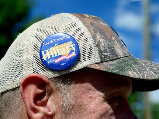 Marc Pedersen, of Hendersonville, sports a Hillary