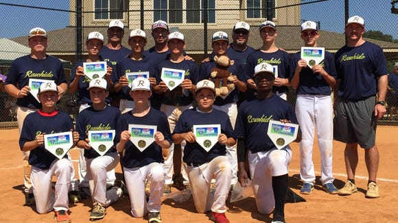 The RBI Rawhide 14 and under baseball team.