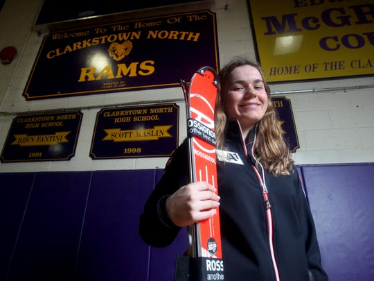 Martyna Czarnik of Clarkstown North High, photographed March 31, 2017, is the Rockland County girls skier of the year.