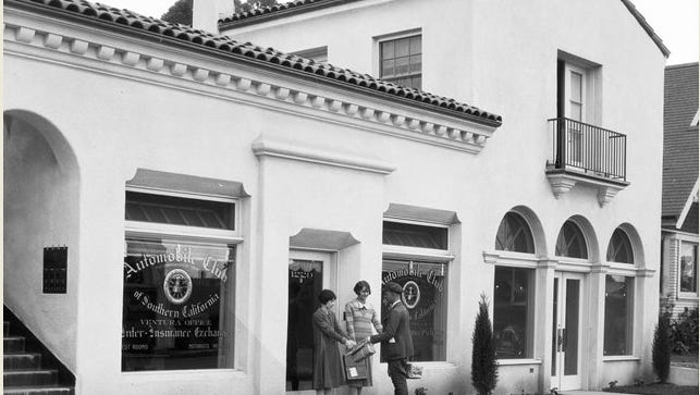 The Automobile Club of Southern California, which is celebrating 100 years in Ventura next week, operated out of this building at 811 E. Main St. from 1920-1925.