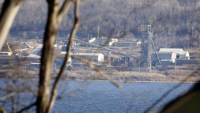 The Cargill salt mine sits on the east shore of Cayuga Lake in Lansing.