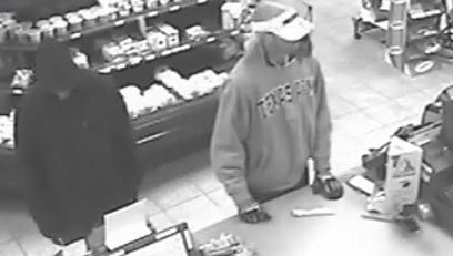 The Sheboygan Police are seeking the public's help in identifying two men involved in a theft from the Citgo gas station.