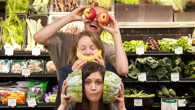 Clowning around at The Co-op Natural Foods.
