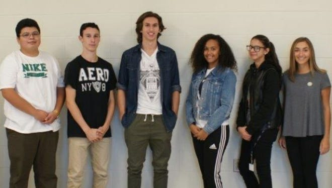 Cumberland County Technical Education Center's student council members for the 2016-17 school year are: (from left) Martin Adame of Hopewell, treasurer; Brandon Hernandez of Shiloh, vice president; Nick Casalinuovo of Vineland, president;  Ni'Yonah Coriano of Commercial Township, sergeant at arms; Karla Mejias of Millville, secretary; and Tabitha Gentiletti of Vineland, historian.