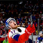 Detroit Red Wings' Filip Hronek shows promise at World Championship