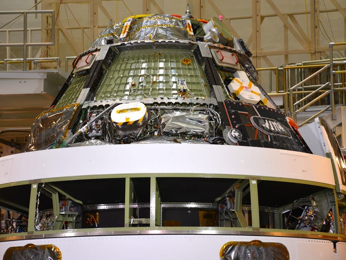 NASA Administrator Charles Bolden gave a status update on the Administration's Orion capsule on Wednesday, June 18, 2014.