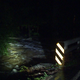 Richardson Creek overflowed onto the road early Tuesday morning.