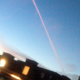 Red contrail seen over Elk Grove on Tuesday, Aug. 18, 2015.