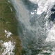 Smoke from Canadian widlfires shows up nicely on a MODIS satellite image on June 29, 2015.