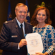 Sen. Lindsey Graham, R-S.C., with his sister, Darline, on June 24, 2015, at a ceremony marking his retirement from the Air Force Reserve.