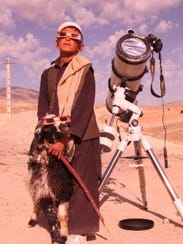 A nomad and his goat observe the transit of Venus,