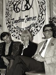 """(Left to right) James Strole, Bernadeane """"Bernie"""" Brown and Charles Paul Brown in the mid-1990s."""