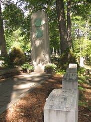 The monument today in the Langdon-Clemens family grave