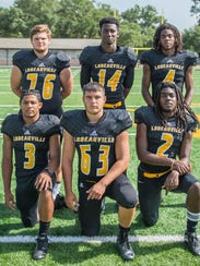 Loreauville's offensive lineup includes (front from