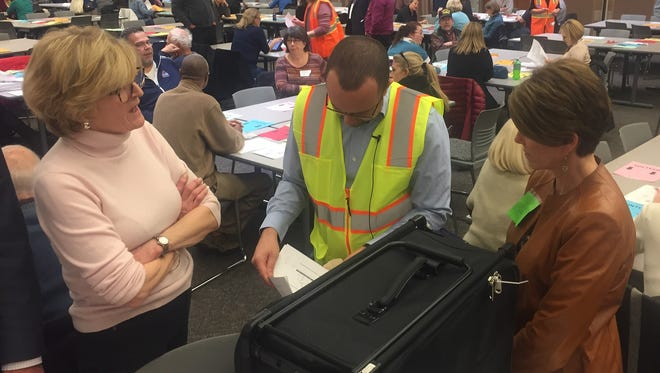 Joe Rozell, Oakland County, Mich., elections director, rules Rochester Hills precinct 11 can't be recounted because the number of ballots in the box didn't match the number listed in the poll book.