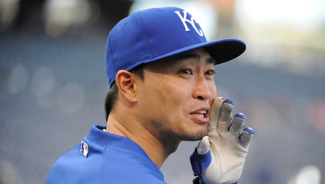 Right fielder Norichika Aoki is C. Trent Rosecrans' preferred target for the Reds.